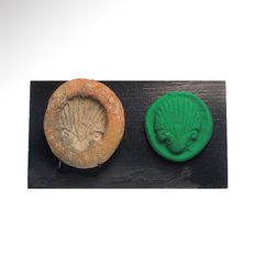 Egyptian Terracotta Mould with Lotus Flower, 4.3 cm L