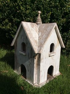 Brocante wooden bird house, France, 2nd half 20th century