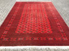 A stylish carpet - AFGHAN - approx. 360 x 253 cm - with certificate of authenticity - very good condition.