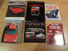 Lot books about sports cars
