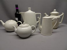 Five tea/coffee pots