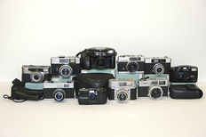 Lot of 10 compact cameras
