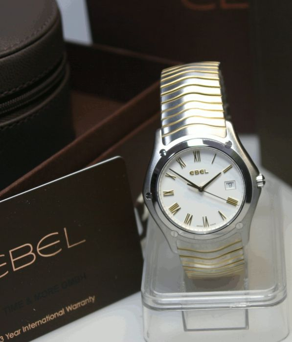 Ebel Classic Wave steel-gold - men's wristwatch, unworn