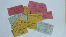 Snack bar tickets for US soldiers in Europe and allied military certificates