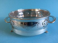 Old silver plated serving tray by Essay E.P Copper Canada 1407.