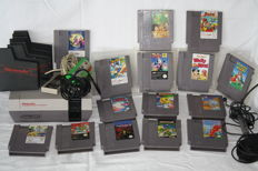 Nintendo NES with very rare games among Disney
