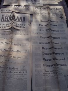 40 German-minded newspapers NSB expenditure many different