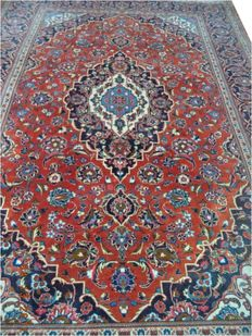 Iran Kashan carpets hand-knotted wool 300cmx200cm.Attention no backup price, bidding starts 1euró