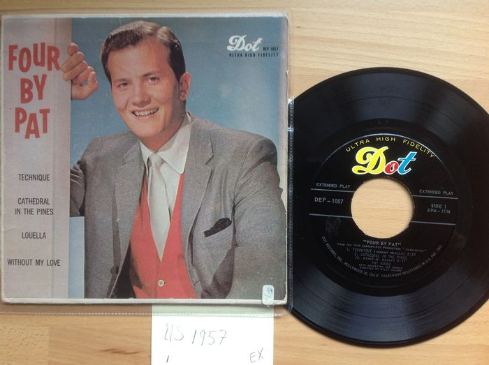 Pat Boone - Lot 13 x EP + 9 x Single.
