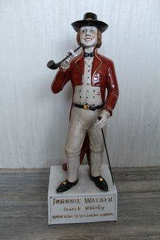 Large hand-painted porcelain sculpture Johnnie Walker