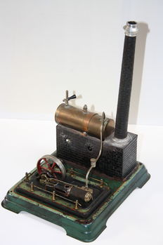 Old steam engine by Doll and Cie, first half of the 20th century, Germany