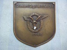 Bronze price plaque Luftwaffe for a sailing competition