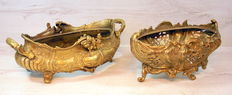 Two bronze planters - France - ca. 1900