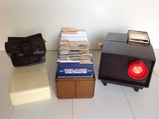 Sawyer's-2 View-Masters bakelite - including 98 Sawyer's 'Fifties & Sixties' View-Master reels