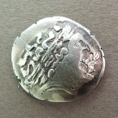 Gaul – Sequanes-Helvetes (now Switzerland) – Stater with biga and 2 strokes - 2nd century BC Very rare.