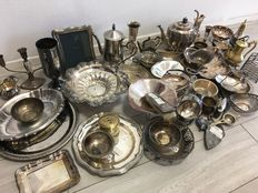 Lot with a 51 silver-plated items -  more than 9.5 kg
