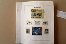United Nations 1990's - Collection of stamp plates and sheets