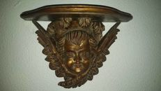 Beautiful Mísula with Angel´s head in gilded carving. Late 19th Century