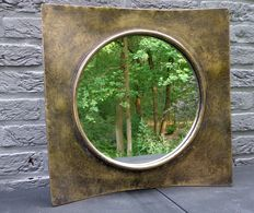 Beautifully designed brass mirror 40 x 40