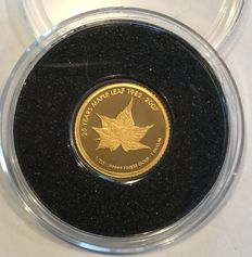 Cook Islands - 1 Dollar 2007 '25 Years Maple Leaf 1982-2007' - ½ gr. gold