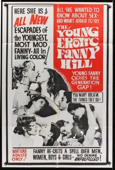 Poster; The Young Erotic Fanny Hill - 1970