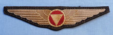 Pre-WW2 Austrian Airforce Pilot Officer's Cloth Wings Badge