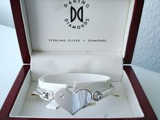 Vintage - 1970s - USA - Daring Diamonds - Sterling Silver Bracelet with Genuine Diamond in original gift Box