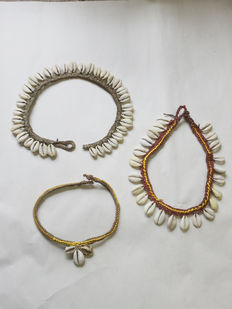 Set of 3 tribal necklaces - Lani People - West-Papua