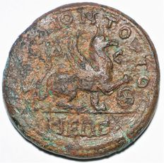 Roman Empire - Gordian III with Tranquillina - Æ 4½ Assaria - 238(241)-244 AD. - Tomis, Moesia Inferior - Very Rare - 26mm, 11.72g