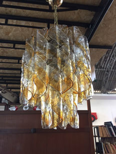 Unknown designer – Curved glass hanging light
