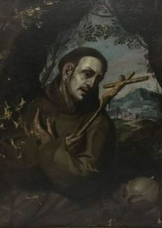 Unknown artist (probably of the 18th century) - San Francesco D'Assisi