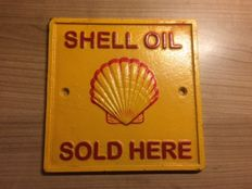 Cast iron advertising sign for Shell Oil - period late 20th/early 21st century.