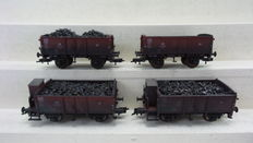 "Fleischmann H0 - 100 Jahre Solvay - 100 Years Solvay - Two special sets for the Centenary  ""100 Jahre Solvay Rheinberg"" with four open boxcars loaded with coal."