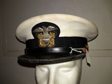 US Navy officer hat WW2