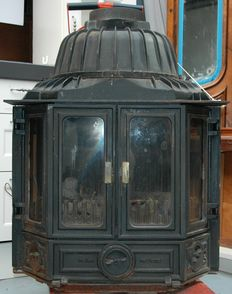 Old cast iron Helex stove, the Netherlands, ca. 1900