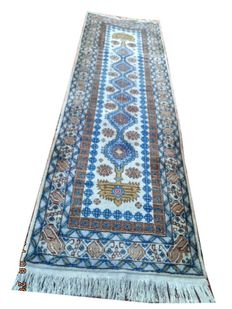 Turkish beautiful hand-knotted woolen carpet 238 cmx72cm.Take into account there is no reserve price, bidding 1euro