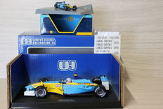 Universal Hobbies / Norev - Scale 1/18-1/43 - Renault F1 2002 #15 - Driver: J. Button & Renault F1 R26 2006 #1 - F. Alonso