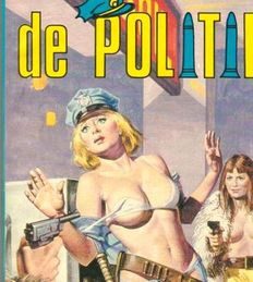 Cult; Lot with 19 pornographic comic pockets of the police-1980s