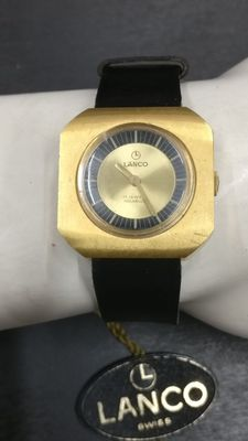 Lanco vintage watch, 17 jewels, incabloc, ref. 25432. No reserve price