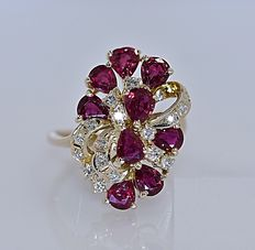 Ruby and Diamonds ring - No reserve price!