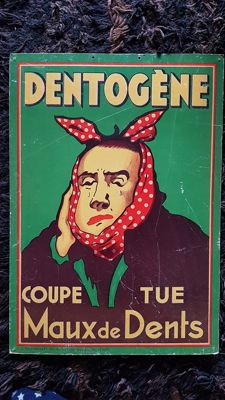 Advertising sign for Dentogene - ca. 1940