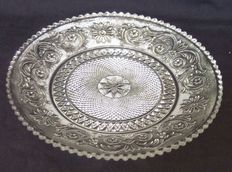 Baccarat crystal plate, model Arabesque, signed, France, circa 1900