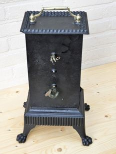 Cast iron spit with clock work - France - ca. 1890