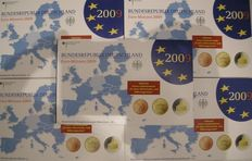 Germany – year packs 2009 Proof (A, D, F, G, J) complete.
