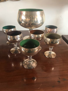 7 Cups - glass and silver set