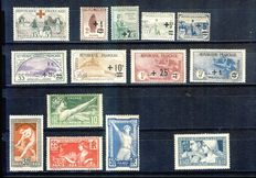 France 1918/1928 – Selection of semi-modern including Orphelins – Yvert 156, 162/169, 183/186, 252