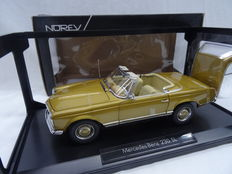 Norev - Scale 1/18 - Mercedes-Benz 230 SL 1963 - Colour: Gold metallic
