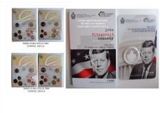 Italy and San Marino – 2 divisional series from 2003 and 2004 + John Fitzgerald Kennedy 5 Euro, 2013, silver