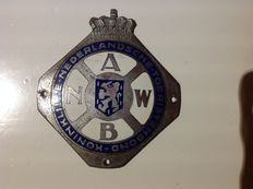 ANWB Plaquette-Emblem - Badge. 1920-1935.         Original Edition