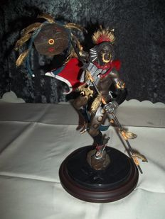 "R.J. Murphy for Franklin Mint-limited and signed bronze Indians image called ' Spirit of the Hawk ""-mint condition"